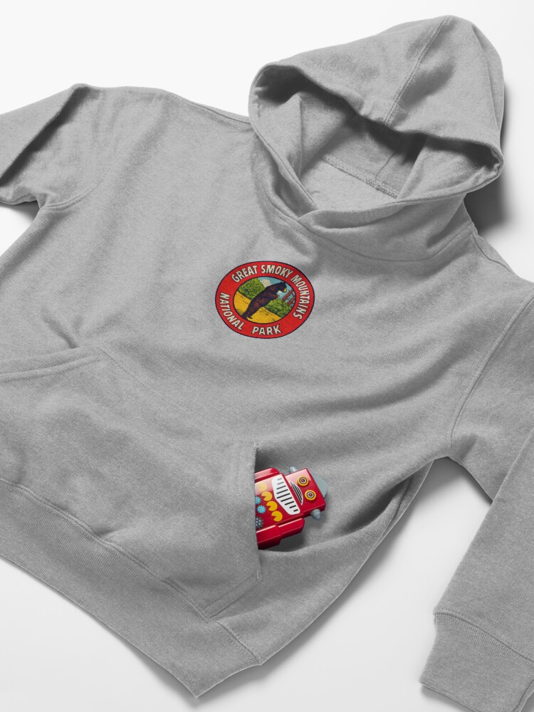Alternate view of 1940s Great Smoky Mountains National Park Kids Pullover Hoodie
