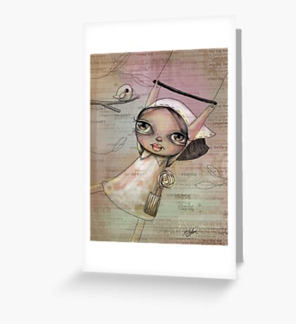 free as a bird Greeting Card