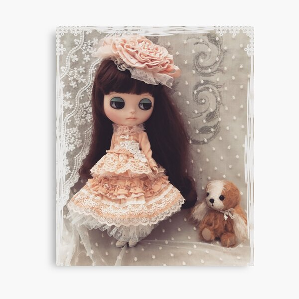 Belle and Puchi playing dress ups Canvas Print
