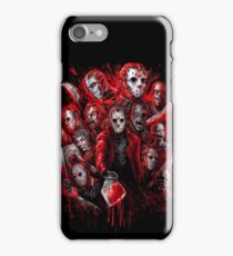 Jason Voorhees (Many faces of) iPhone Case/Skin