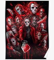 Jason Voorhees (Many faces of) Poster