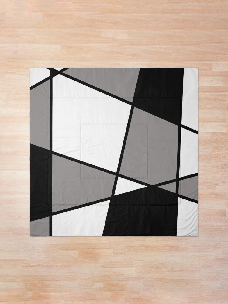 Alternate view of Black Modern Pattern Comforter