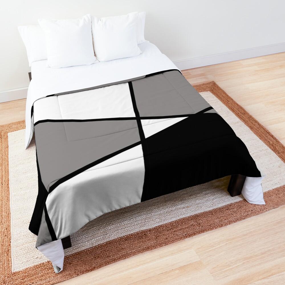 Black Modern Pattern Comforter