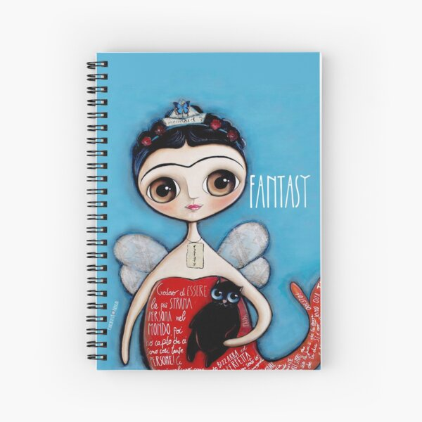 Mermaid and the black cat Spiral Notebook