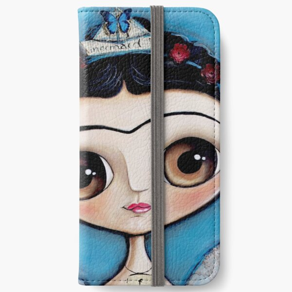 Mermaid and the black cat iPhone Wallet