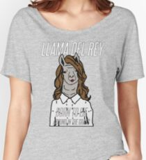 Llama Del Rey Women's Relaxed Fit T-Shirt
