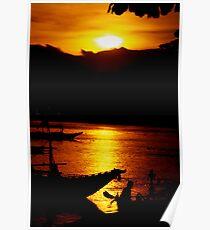Beach Sunset Philippines Poster