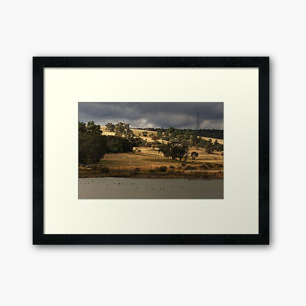 Bogolong Dam at Grenfell Framed Art Print
