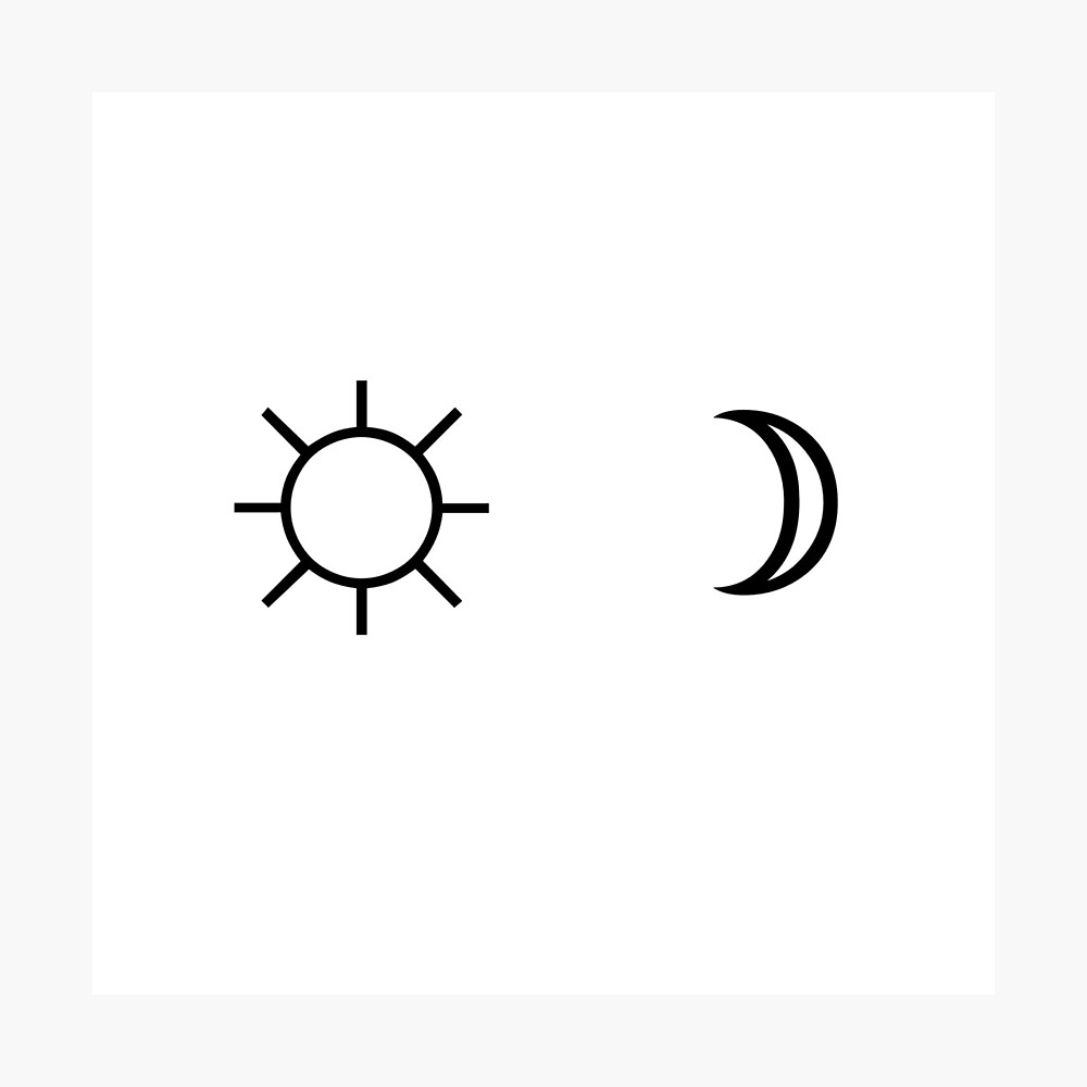 Sun And Moon Minimalist Aesthetic Black And White Tumblr Design Metal Print By Cgnewman00 Redbubble