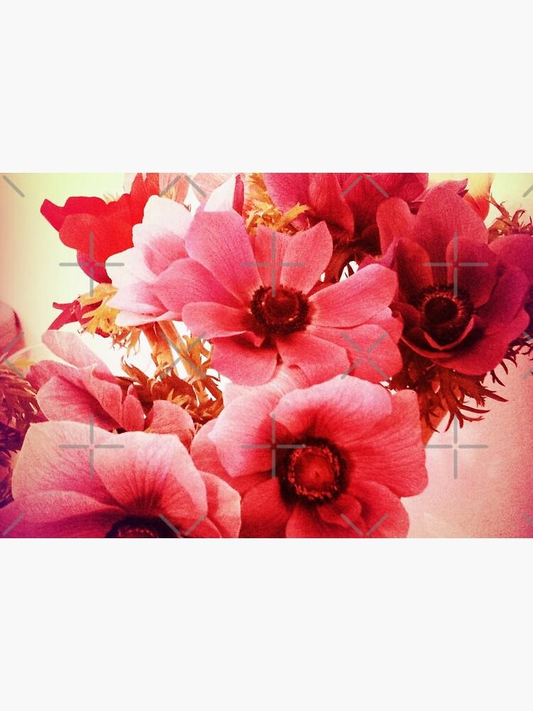 Pink Velvet Floral Art - Pink Flower Design - Romantic  by OneDayArt