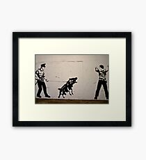 Cops and Robbers Mural Framed Print