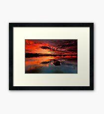 Floating Away Framed Print