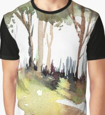 Trees on a hill Graphic T-Shirt