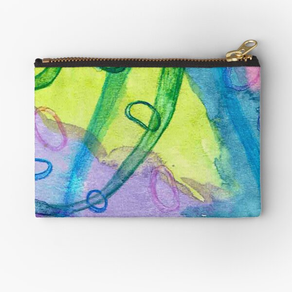 Watercolor sketch Zipper Pouch