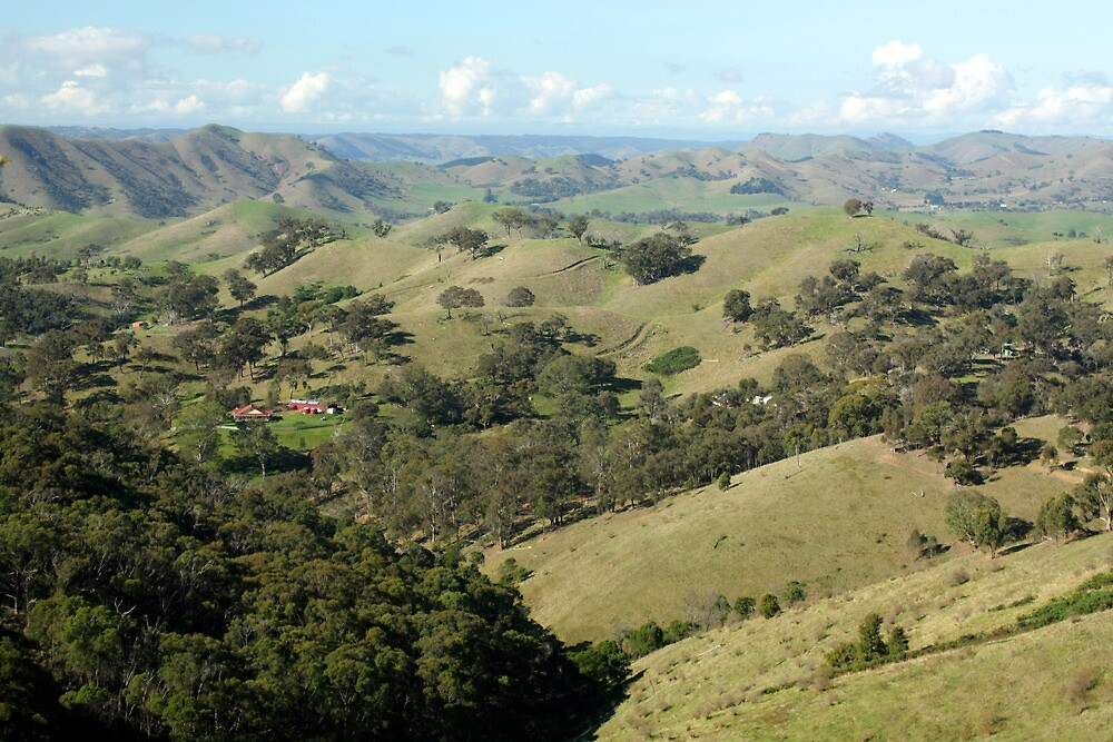 Valley of a Thousand Hills - Strath Creek Victoria by Emmy Silvius