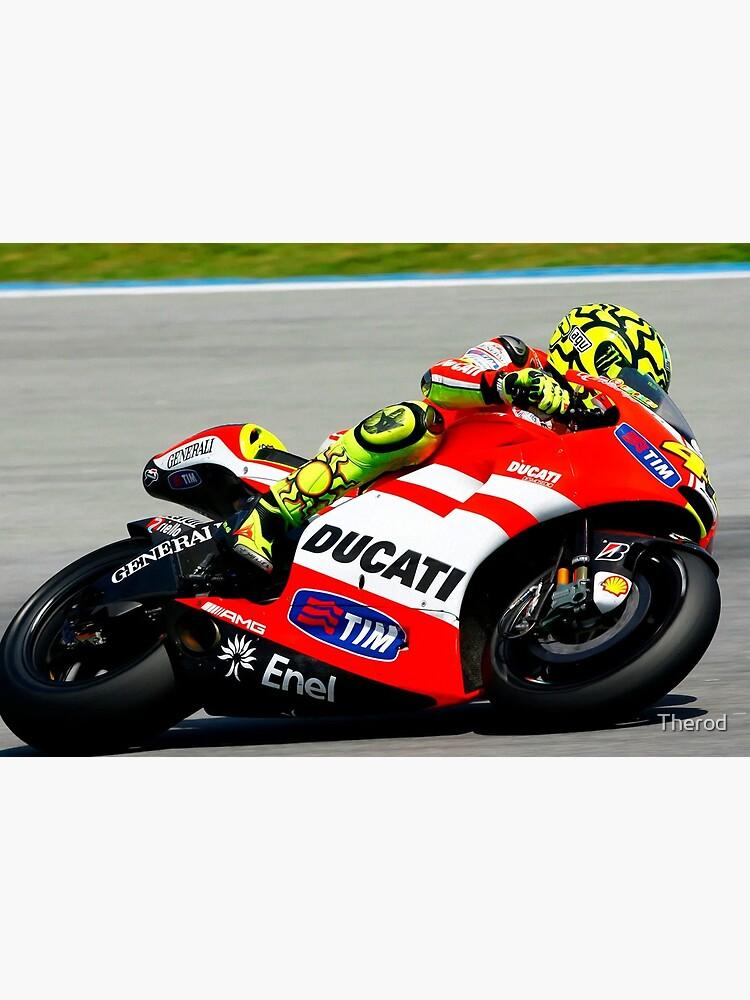 «Valentino Rossi sur sa Ducati» par Therod