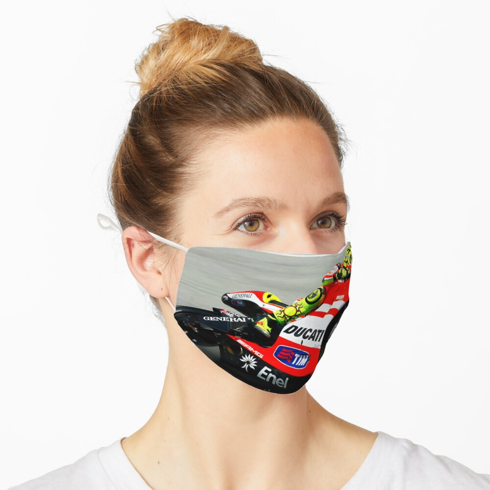 Masque «Valentino Rossi sur sa Ducati»