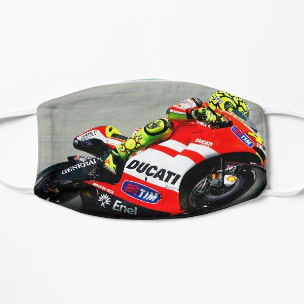 Valentino Rossi montando su Ducati Mascarilla plana