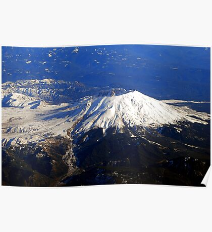 Fly By Mt.St. Helens Poster