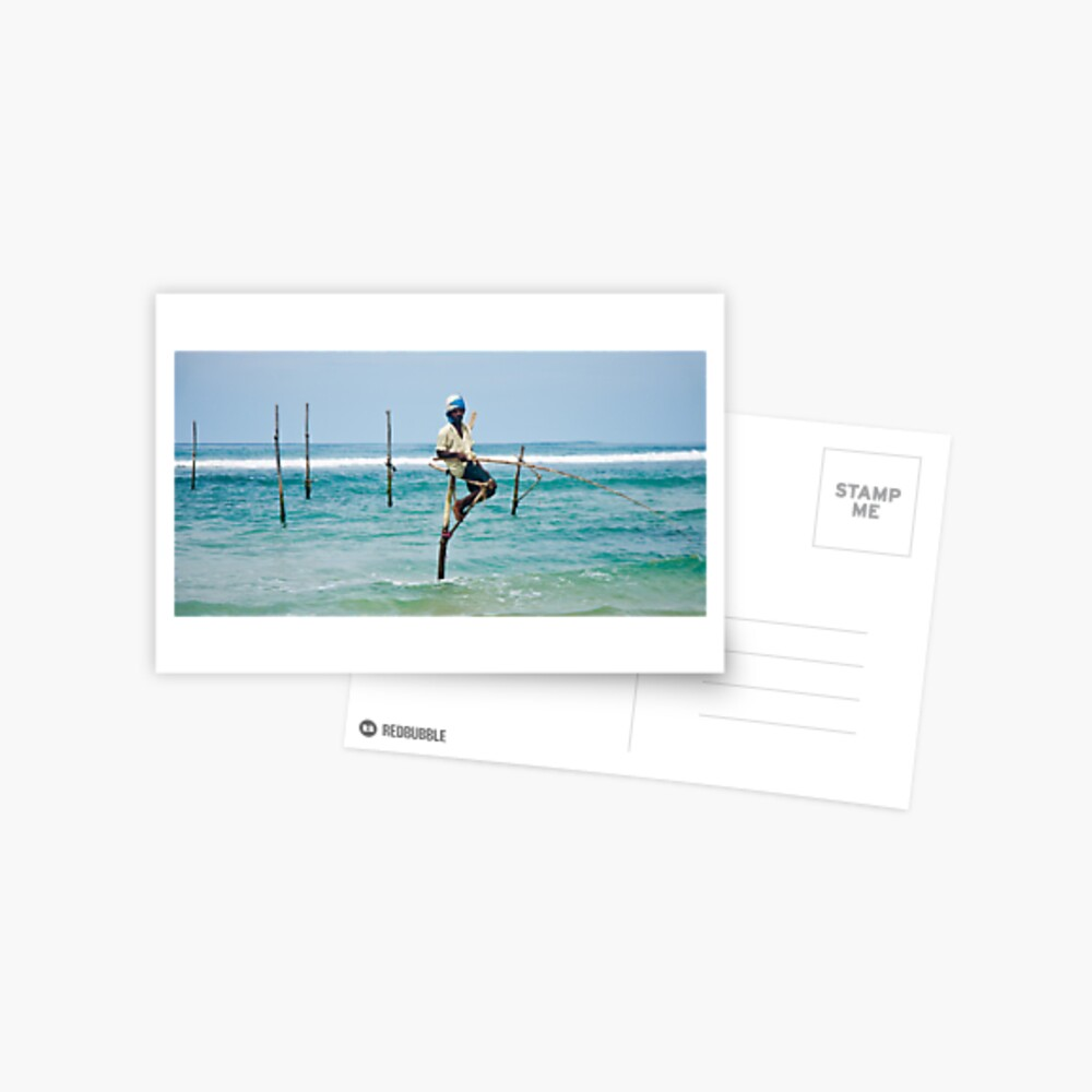 Stilt Fisherman Postcard