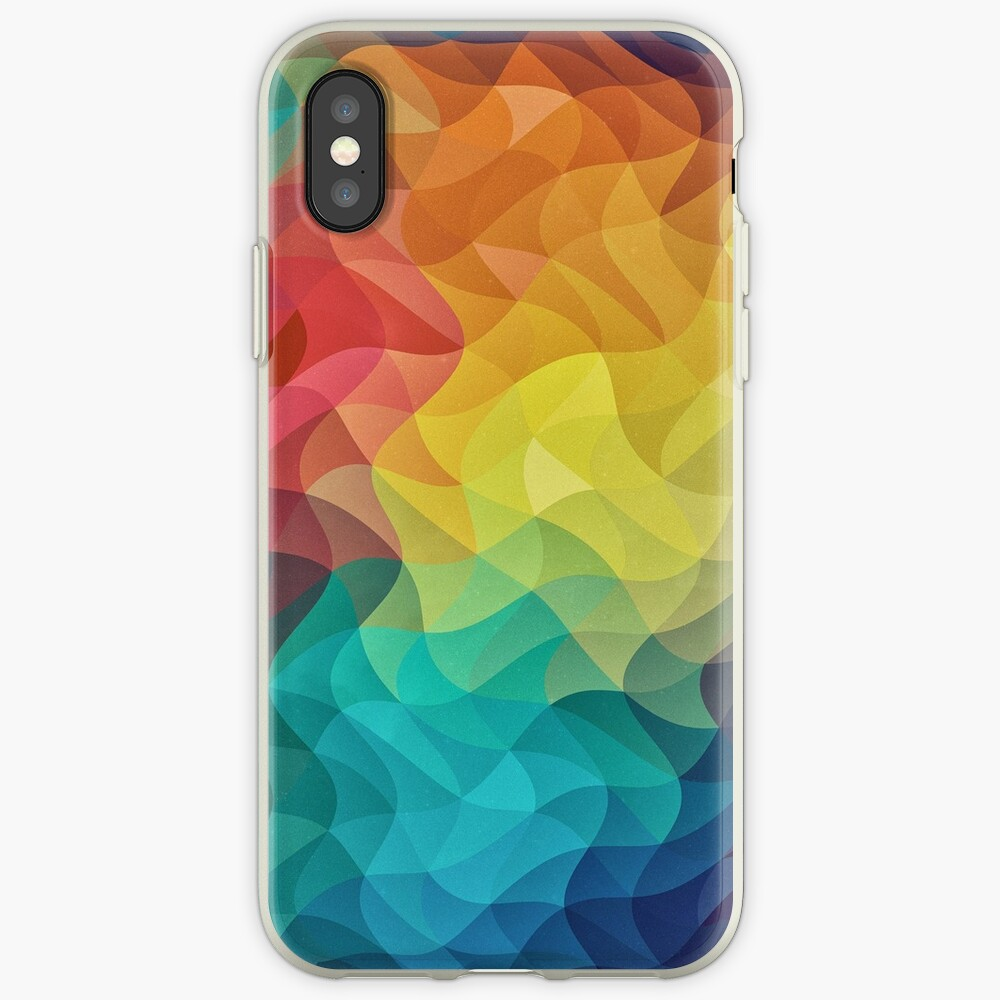 Abstract Color Wave Flash iPhone-Hülle & Cover