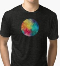 Abstract Color Wave Flash Tri-blend T-Shirt