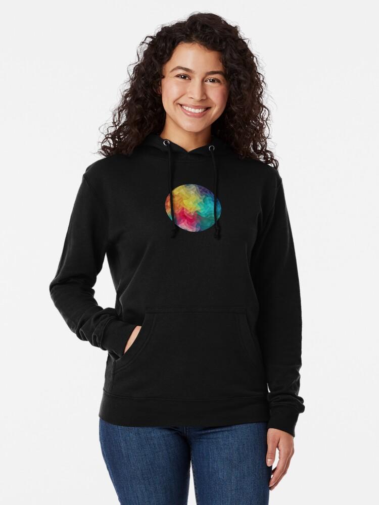 Alternative Ansicht von Abstract Color Wave Flash Leichter Hoodie
