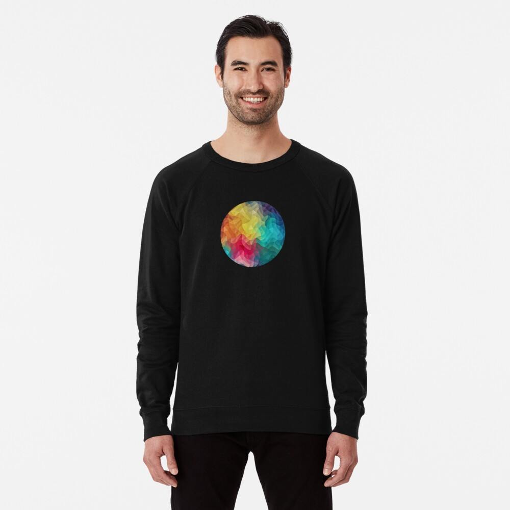 Abstract Color Wave Flash Leichter Pullover