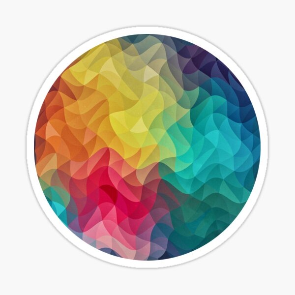 Abstract Color Wave Flash Sticker