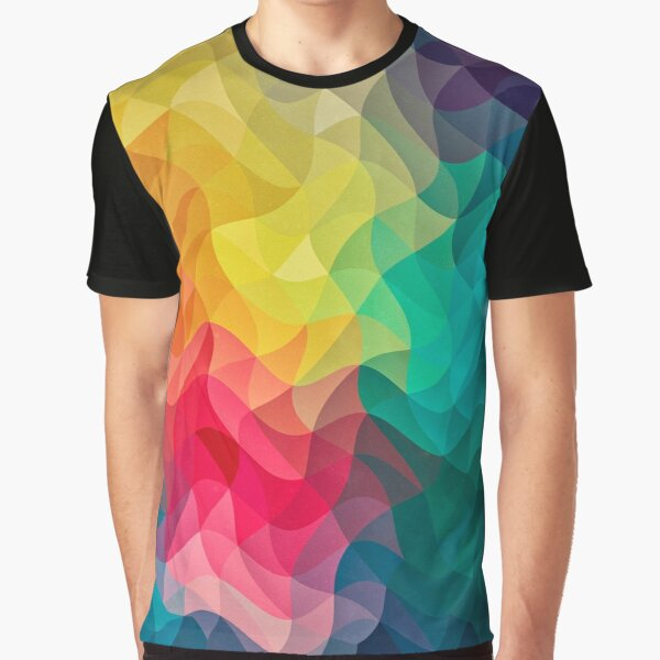Abstract Color Wave Flash Graphic T-Shirt