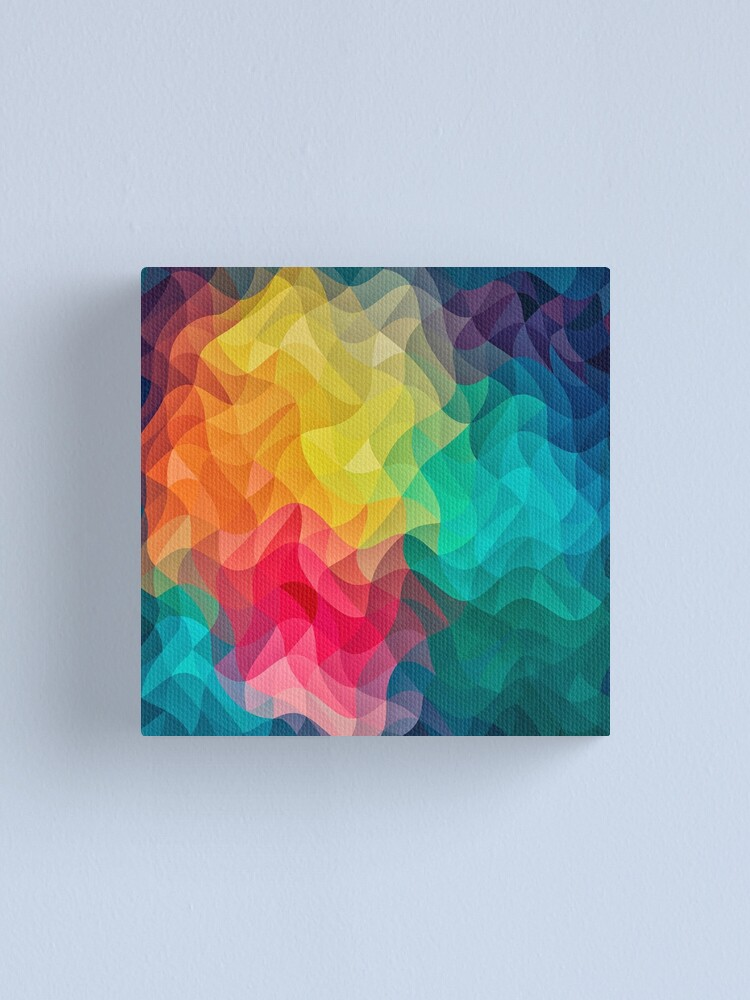 Alternate view of Abstract Color Wave Flash Canvas Print