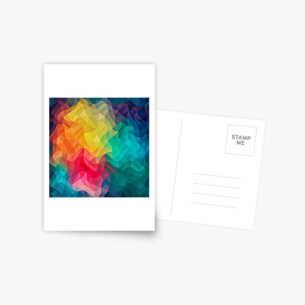 Abstract Color Wave Flash Postkarte