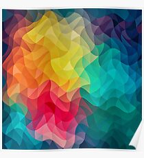 Abstract Color Wave Flash Poster