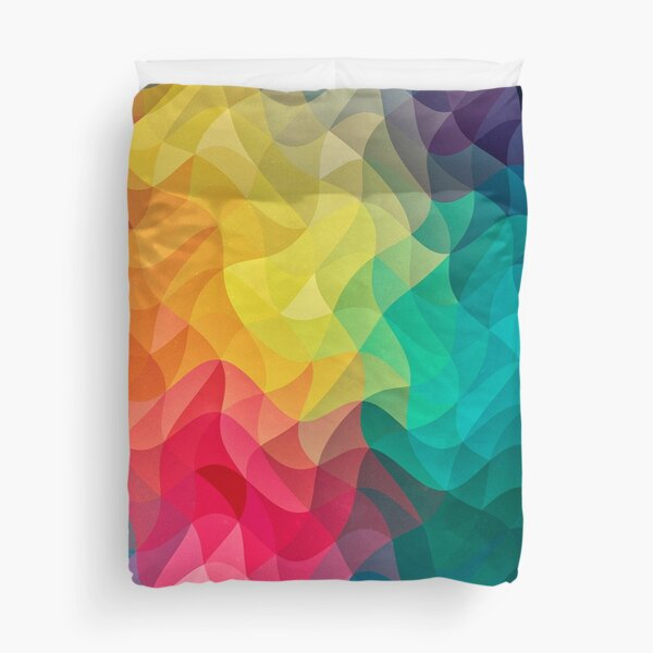 Abstract Color Wave Flash Duvet Cover