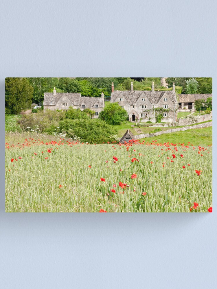 Alternate view of Cotswold Poppy Field Canvas Print