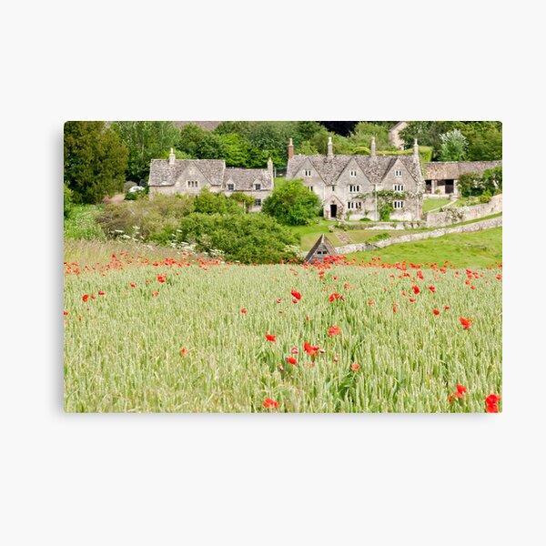 Cotswold Poppy Field Canvas Print