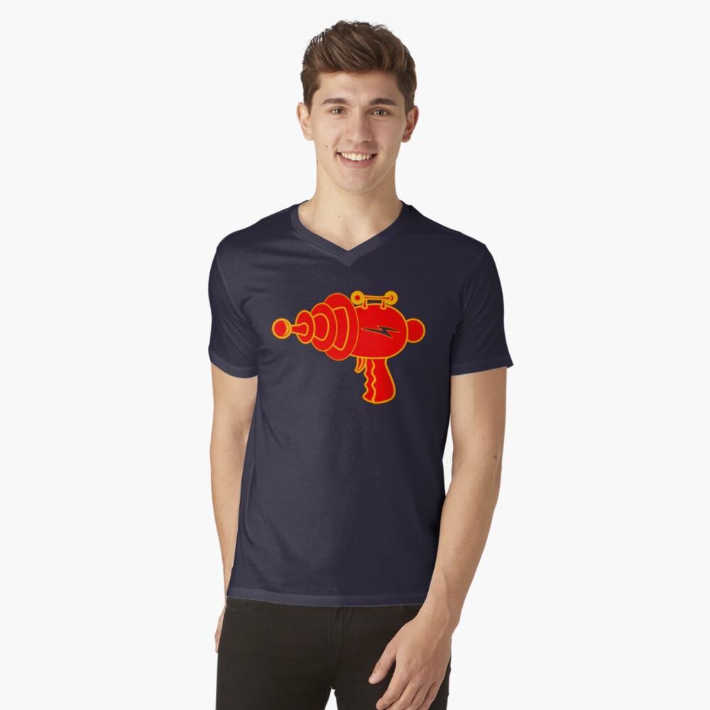 Ray Gun Mens V-Neck T-Shirt Front