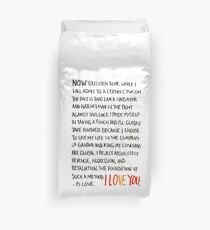 The Foundation of Such a Method Is Love Duvet Cover