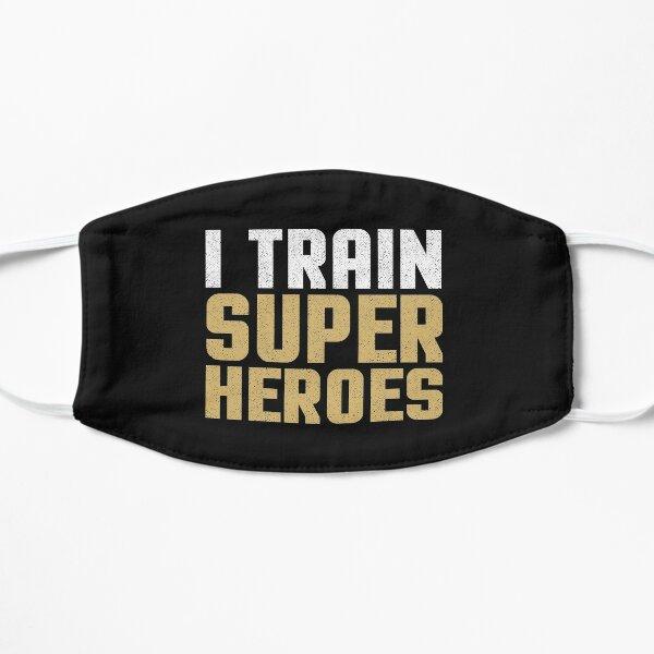 I train Super Heroes Funny Teach Coach Gift Humor Saying  Mask