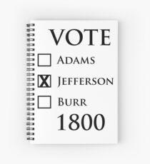 Vote Jefferson! Spiral Notebook