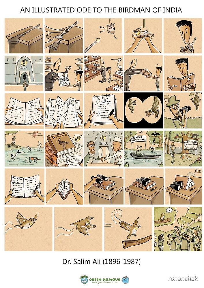 The Illustrated Life of Dr. Salim Ali- the Bird Man of India by rohanchak