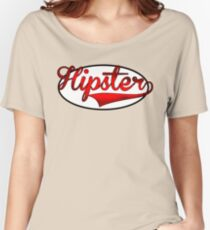 HIPSTER TEE | RED Women's Relaxed Fit T-Shirt