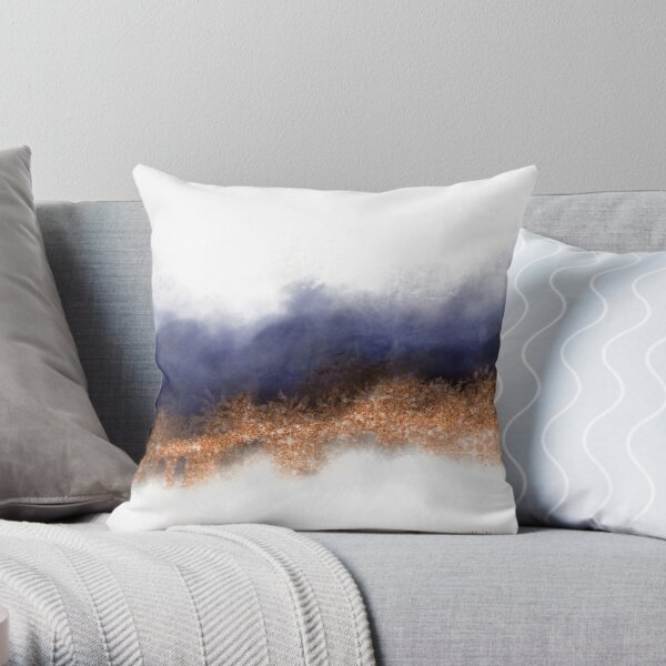 Copper Mood Throw Pillow