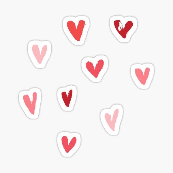 Little Red Hearts hand drawn sticker Sticker