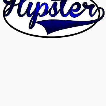 HIPSTER TEE | BLUE by RhysDesigns94