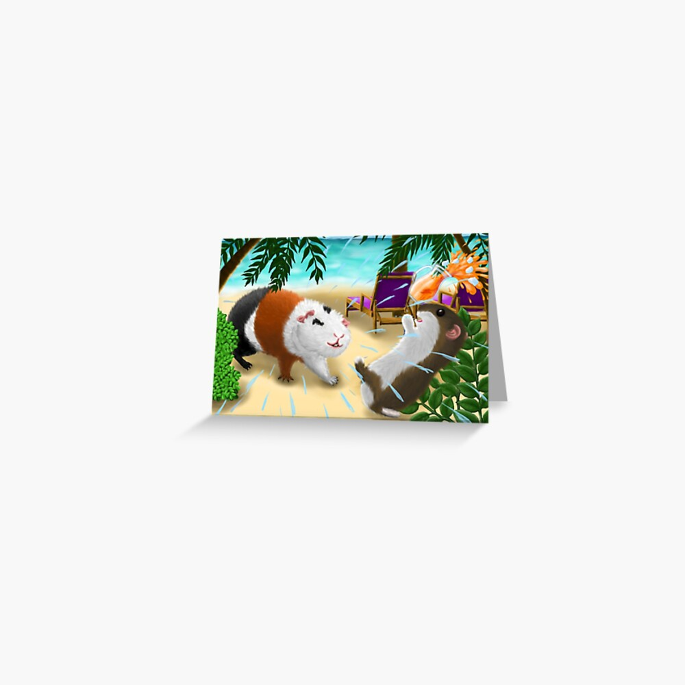 Rodents on the beach Greeting Card