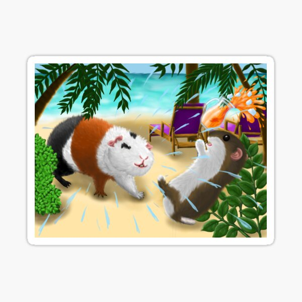 Rodents on the beach Sticker