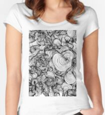 Squiggles on your iPhone - Psychedelic Art Women's Fitted Scoop T-Shirt