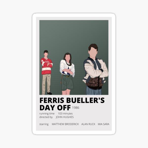 ferris bueller minimalist sticker Sticker