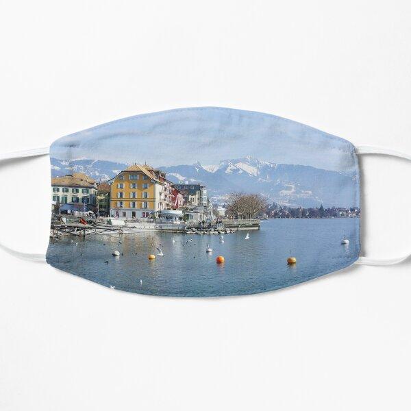 Vevey on the lake Geneva in Switzerland Mask